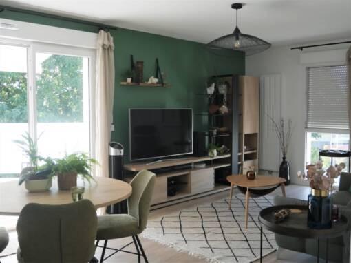 Décoration Appartement neuf style moderne végétal à Tyrosse (40)