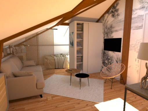 Rénovation d'un studio dans les combles à Vieux-Boucau-les-Bains (40)