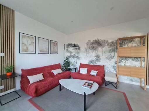 Décoration d'une maison landaise rénovée à Capbreton (40)