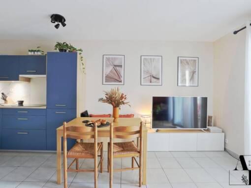 Décoration et aménagement d'un appartement exotique et moderne à Saint-Paul-lès-Dax (40)